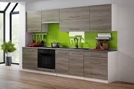 küchenzeile eiche trüffel weiß 260 cm küche küchenblock mdf arbeitsplatte relinggriffe modern einbauküche