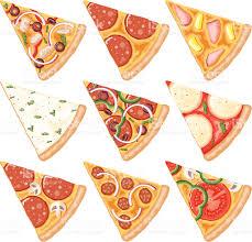 Pizza Slices Icon Set royalty free pizza slices icon set stock vector art &