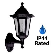 traditional style black outdoor security dusk to ip44