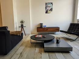 tv sideboard aus nussbaum und schwarz lackiertem