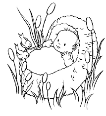 Baby Moses Coloring Pages 17 Printable