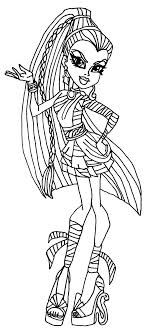 Monster High Baby Coloring Pages To Print Dolls 13 Wishes Wisp Colouring Pictures