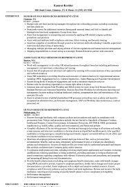 Human Resources Representative Resume Samples Velvet Jobs Rh Velvetjobs Com Recruiter Warehouse Associate