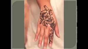 Henna Flower Tattoo On Right Hand For Girls