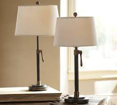 Pottery Barn Floor Lamp Assembly by Sutter Adjustable Lever Table U0026 Bedside Lamp Base Pottery Barn