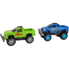 100 Green Trucks Kid Connection Friction Powered Fast 2Pack Blue