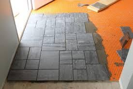 laying slate tile linoleum backsplash installing kitchen tile floor rona how to lay floor