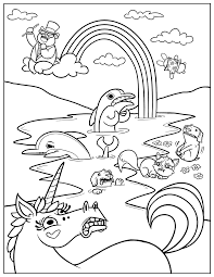 Rainbow Coloring Pages Kids Printable