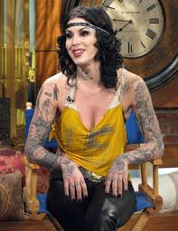 Kat Von D Tattoo On Full Sleeves