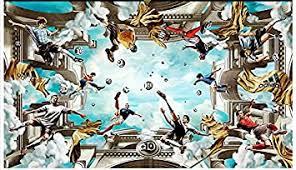lhdlily 3d wandbild tapete wallpaper fresken mural decke