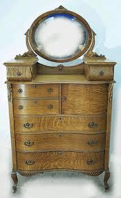 Tiger Oak Serpentine Dresser oak serpentine hichest with hat box and glove boxes supporting