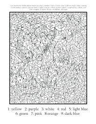 Coloring Pages Hard Color By Number For Adults Numbers Adult