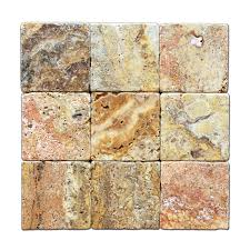 Scabos Travertine 4 X Tile Tumbled