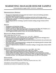 Marketing Manager Resume Sample Download