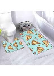 badematten set draw pizza doodle pizza 2 teiliges