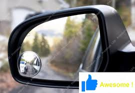 100 Side View Mirrors For Trucks 2Pcs Round 2 Stick On Rearview Blind Spot Convex Wide Angle