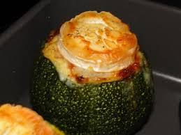cuisiner courgette ronde courgettes rondes farcies au chevre aurélie cuisine