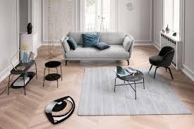 wohnzimmer in grau holz marmor und metall bild 10