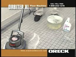 Oreck Floor Machine Pads by Oreck Commercial Orbiter Floor Machine Porcelain Ceramic Tile