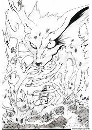 Coloriage Manga Naruto Kyubi 16 JeColoriecom