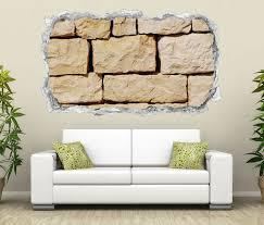 3d wandtattoo durchbruch stein mauer steinmauer steine bims wand aufkleber wanddurchbruch sticker selbstklebend wandbild wandsticker wohnzimmer