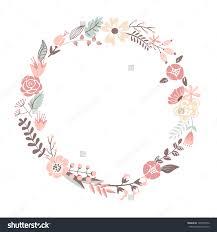 Round Flower Frame Clipart 77