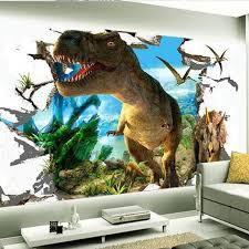 Beibehang 3d Wallpaper Custom Mural Dinosaurs Background Wall Painting Photokids Room Decor For
