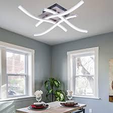 allomn led deckenleuchte kronleuchter le modern winkte design deckenleuchte mit 4 stück winkte licht für wohnzimmer schlafzimmer esszimmer 28w 4