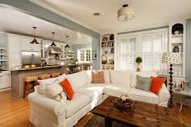 Modern Country Kitchen Eclectic Living Room