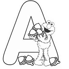 Superb Sesame Street Alphabet Letter Coloring Page With Pages And