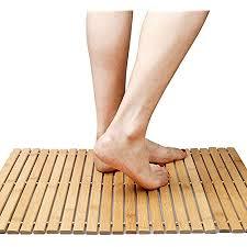 faltbare bambus schritt spa mat indoor outdoor bad dusche und bodenmatte rutschfeste unterseite wasserdicht vented design hometoilet badezimmer spa