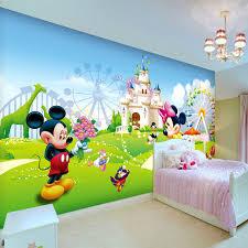 Lovely Mickey Minnie Photo Wallpaper 3D Wall Mural Cartoon Boys Kids Girls Room Decor