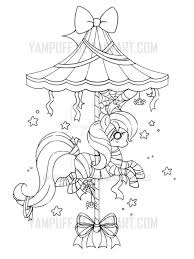 Mummy Carousel Pony Lineart Commission By YamPuffdeviantart On Kids ColoringAdult Coloring PagesColoring