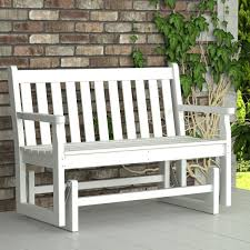 furniture hardwood porch glider bench from texas for outdoor