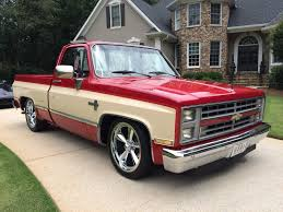 1986 Chevrolet C10 Silverado Rare Candy Red And Doe 2 Tone 20 Inch ...