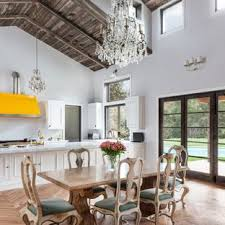 Inspiration For A Farmhouse Light Wood Floor And Brown Great Room Remodel In Los Angeles