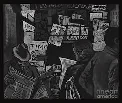 Newspapers Painting By Angelina Rumyantseva