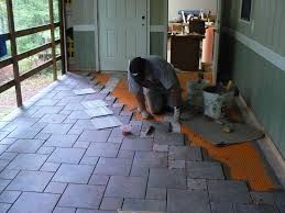 Tile Adhesive Over Redguard by Wood Porch With A Tile Deck Professional Deck Builder Outdoor