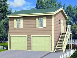 Menards Prefab Homes 24 X 2 Car Apartment Garage At Landscaping 4