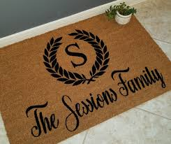 Monogrammed Doormat Personalized Doormat Custom Doormat Door