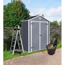 keter 214701 manor large 6 x 3 ft resin outdoor yard garden