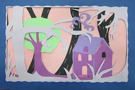 Mr Bobs Middle High School Art Room Construction Paper Layers Project