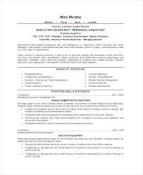 Resume Examples Executive Assistant Administrative