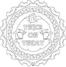 Trick Or Treat Halloween Design For Coloring Embroidery Paper Crafts Mandala PagesPumpkin