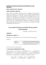 Modelo De Carta Notarial De Un Sindicato A Una Empresa