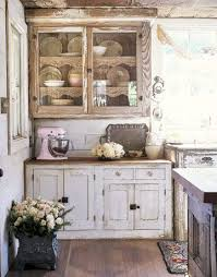22 Rustic Country Kitchen Interiors 1 Vintage Cabinets