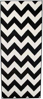 carpeto läufer teppich modern schwarz weiß 70 x 200 cm geometrische muster kurzflor furuvik kollektion