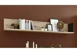 wandboard 155 cm ablage artisan eiche schwarz wohnzimmer