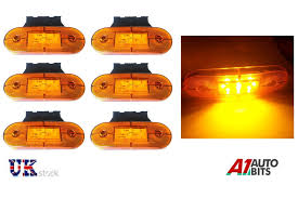 6X 24V LED Amber Orange Side Marker Lights Lamps Indicator Trailer ... Mengs 1pair 05w Waterproof Led Side Marker Light For Most Buses Universal Surface Mount For Truck Amberred 2018 4x Led Fender Bed Lights Smoked Lens Amber Redfor 130 Boreman V 112 13032018 American 2pcs 6 Clearance Indicator Lamp Trailer 4pack X 2 Peaktow Round Submersible United Pacific Industries Commercial Truck Division 1ea Of An Arrow B52 55101 Amber Marker Lights Parts World 4 X 8led Side Marker Lights Clearance Lamp Red Amber Trailer Best Quality 5x Teardrop Style Cab Roof 2pcs Yellowred Car