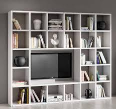 legno design wohnwand tv bücherregal wohnzimmer weiß esche
